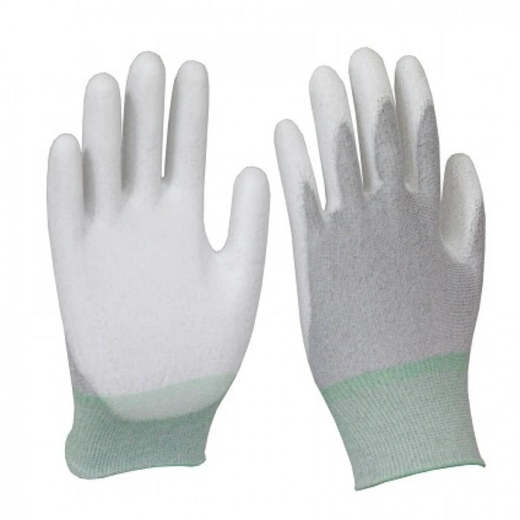 găng tay chống tĩnh điện phủ PU lòng bàn tay